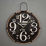 Viento industrial redondos tapices pared reloj/creative living comedor pared/relojes de fichar o...