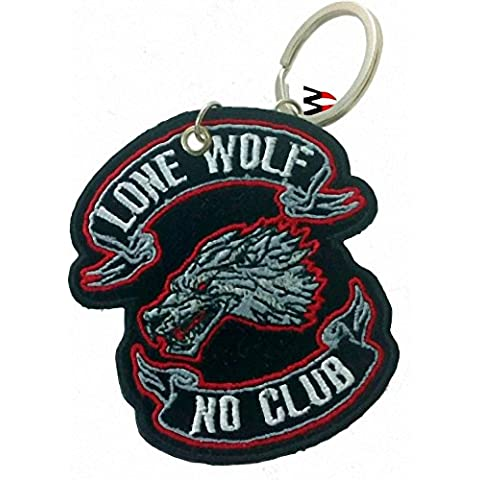 Llavero Patch Impacto Anillo Loud Pipe Lone Wolf keltenkreuz Old School, Lone Wolf