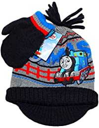 Official Licensed Thomas The Tank Engine Winter Peak Hat and Mittens Set Age 1-2 Years Embrodiered Design