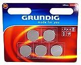 5x GRUNDIG CR 2430 LITHIUM Batterien Knopfzellen Uhren Digital Foto Kamera Küche Küchen Waage 12.2018 CR2430