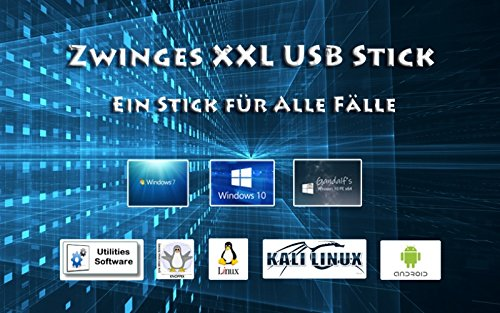 USB Stick Windows 7 / 8 / 10 / Linux / Android / Security uvm