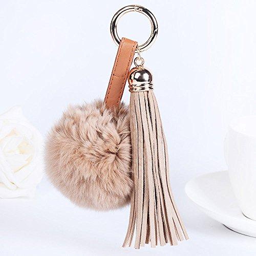 OSYARD Schlüsselanhänger,Keychain,Kunstfell Flauschigen Pompom Ball für Auto Schlüsselanhänger Tasche Deko Zubehör Fellbommel Keyring Schlüsselringe Quaste Handtaschenanhänger