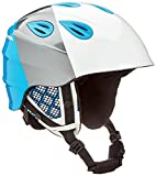 ALPINA Kinder GRAP 2.0 Junior Skihelm, White-Silver-Blue, 51-54 cm