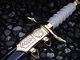 Replica NVA Generals Dolch mit Scheide 38cm goldfarben DDR Deko