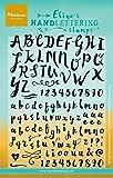 Marianne Design MDEC0159 Eline's Handschrift Stempel-Set, Buchstaben und Zahlen, Synthetic Material, durchsichtig/transparent, 20.2 x 10.2 x 0.3 cm