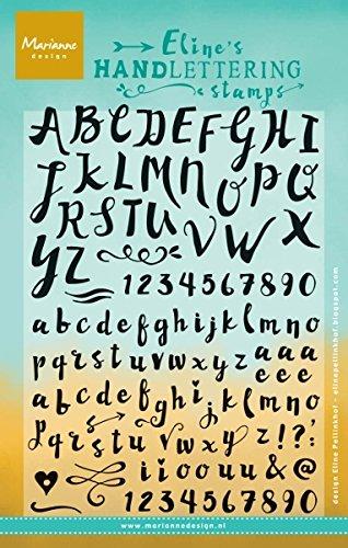 Marianne Design Eline's Handschrift Stempel-Set, Buchstaben und Zahlen, transparent, Synthetic Material, durchsichtig, 20.2 x 10.2 x 0.3 cm (Buchstaben X Stempel)