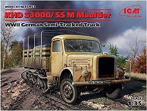 ICM 35453Maqueta de khd S3000/SS M Maul Animales WWII German Semi de Tracked Truck