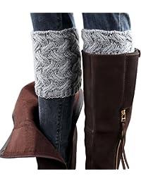 Fulltime® 2016 1 Paire Hiver Femmes Brief Paragraphe grosses aiguilles Jambières Chaussettes Boot Cover