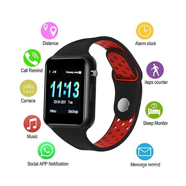 Dr.Haer Reloj Inteligente, M3 Smartwatch Bluetooth Deporte Fitness Tracker con Monitor de Pulso Cardiaco,Rastreador de Ejercicios para iOS, Android Phones,etc 2