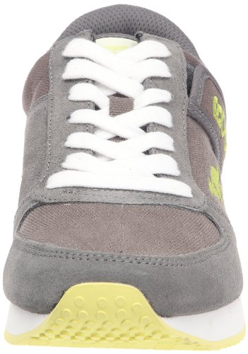 KangaROOS Combat-Canvas-Eco Herren Sneakers Grau (charcoal/wht/lime 208)