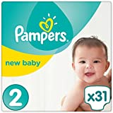 Pampers Premium Protection New Baby Windeln, Gr. 2 (3-6 kg), 4er Pack (4 x 31 Stück)