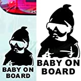 Autocollant adhésif bébé à bord universel pour voitures. BABY ON BOARD