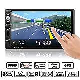 WWSZ Autoradio, 7 Zoll GPS MP5 Spieler HD 1080P Touchscreen mit Mirrorlink /Lenkradfernbedienung/GPS Navigation/Freisprechfunktion/ Rückfahrkamera/AM/FM/RDS/RADIO/BLUETOOTH/USB/TF/AUX IN/ Ausgabe 32GB TF Karte