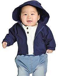 Iceybaby bebé recién nacido impermeable niñas la chaqueta con capucha impermeable a prueba de viento impermeable fina impermeable Outwear 0-6-9-12-18 meses