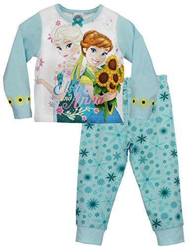 Blumen Baumwolle Pjs (Disney Mädchen Die Eiskönigin Schlafanzug Anna und Elsa Sommer-Sonnenwende 116)