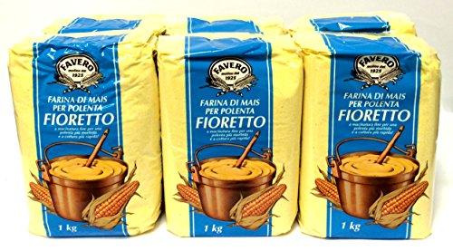 8 x 1 Kg Favero Maismehl Polenta Mehl Fioretto