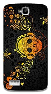 The Racoon Grip Musical Skull hard plastic printed back case / cover for Huawei Honor Holly