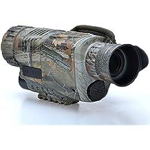 Zantec 5X40 tácticas de infrarrojos de alta definición de visión nocturna gafas telescopio monocular de vídeo