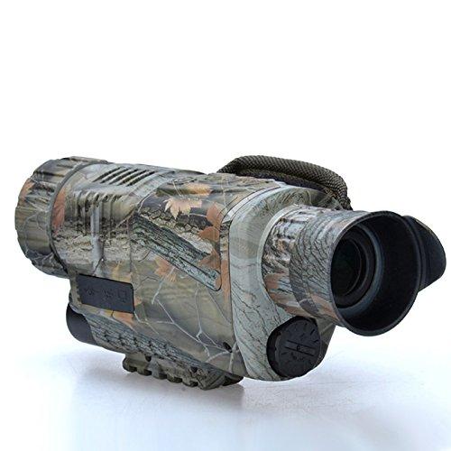 Zantec 5X40 tácticas de infrarrojos de alta definición de visión nocturna gafas telescopio monocular de vídeo para la vigilancia de la caza