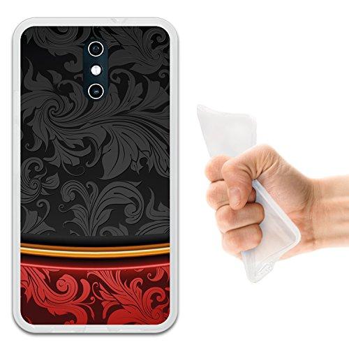 WoowCase Doogee BL5000 Hülle, Handyhülle Silikon für [ Doogee BL5000 ] Schwarz und Rot Luxus Vintage Handytasche Handy Cover Case Schutzhülle Flexible TPU - Transparent