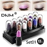 Elecenty Cosmetici ombretto 12 Pearlescent Small Eyeshadow Box Combination impermeabile