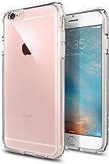 iPhone 6S Hülle, Spigen® [Ultra Hybrid] Luftpolster-Technologie [Crystal Clear] Einteilige Transparent Handyhülle Durchsichtige PC Rückschale mit Silikon TPU Slim Bumper Schutzhülle für Apple iPhone 6/6S Case Cover - Crystal Clear (SGP11598)