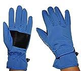 Unbekannt Fingerhandschuhe Softshell - azur blau - Thermo gefüttert mit Fleece - dünner Thermohandschuh - Größe: 8 bis 10 Jahre - wasserdicht + atmungsaktiv Soft Shell ..