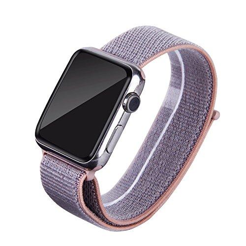 WTACC Smart Watch Band Grün Herren 42mm Nylon Loop Designer Ersatzband für Apple-Serie 3/2/1 Free Nylon Armband