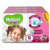 4 x HUGGIES Pannolini Infantil 15-30 15-36 Kg Tamaño 6 13 Piezas