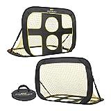 PodiuMax tragbares 2 in 1 Pop-Up Fußballtor, Indoor/Outdoor Zielnetz von Fußball mit Tragetasche