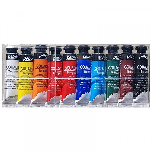 pebeo-gouache-tempera-paint-set-10ml-x-10
