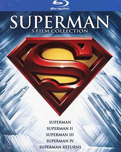 Il cofanetto comprende: Superman + Superman II + Superman III + Superman IV + Superman Returns