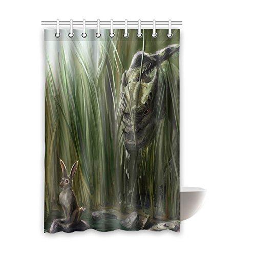 "Personalizado dinosaurio (1) cortina de ducha de 48""(W) 66"" x 72(H) cm tela de poliéster resistente al agua, One-Side impresión (9orificios), poliéster, Dinosaur(3), 48x72(inches)"