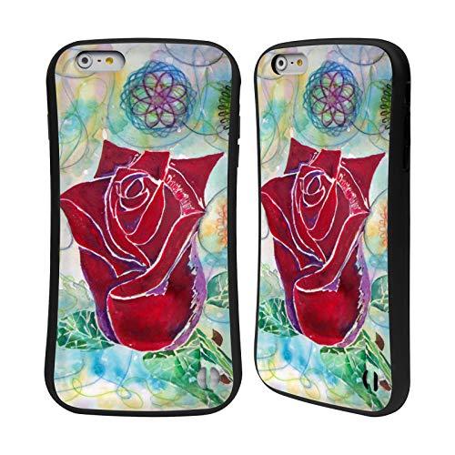 Head Case Designs Offizielle Lauren Moss Rose-Knospe Blumen Hybrid Hülle für iPhone 6 Plus/iPhone 6s Plus