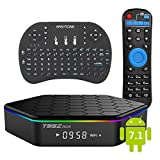 Android 7.1 TV Box with Mini Wireless Keyboard Backlit,...