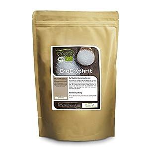 Nurafit BIO Erythrit I 1kg / 1000g I Zuckerersatz kalorienfrei I Natürliche...