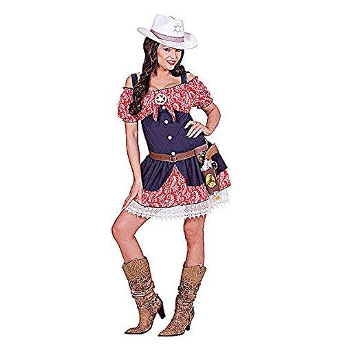 Widmann wid06303–Kostüm für Erwachsene Cowgirl, mehrfarbig, L (Cowgirl Kostüm Für Erwachsene)