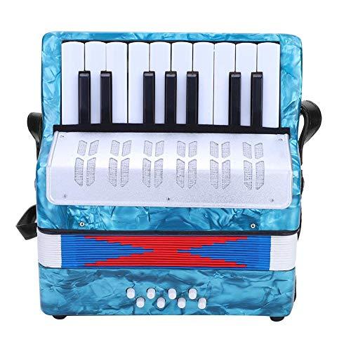 Kinder Akkordeon Spielzeug, Mini Kleine 17 Tasten 8 Bass Akkordeon Pädagogisches Musikinstrument Spielzeug für Anfänger Kinder Bildung, Navy blau