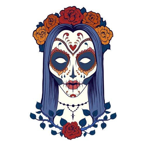 T-Shirt - Sugar Skullita 01 - Totenkopf - Sugar Skull - Herren - unisex Weiß