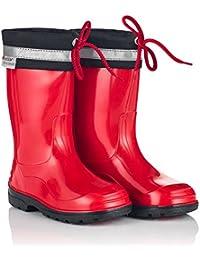Krexus PVC Kinder Gummistiefel Regenstiefel London | Bunte Unisex-Gummistiefel Für Mädchen und Jungen | Gr. 20-35