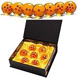 Monuary 7 Pièces Dragon Balls, Balles de Dragon 1 à 7 étoiles avec Coffret Cadeau, Objets de Collection de Boule de Cristal pour Dragonball Z Gift - Diamètre 4,3CM