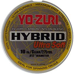 Fluorocarbono Hybrid Ultra Soft Yo-Zuri 20lbs 9.7 kg 0.438 mm 250 Mt Made in Japan