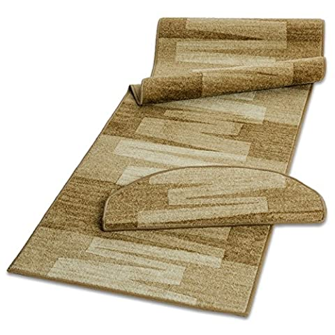 casa pura® Pattern Carpet Floor Runner, Via Veneto - Beige