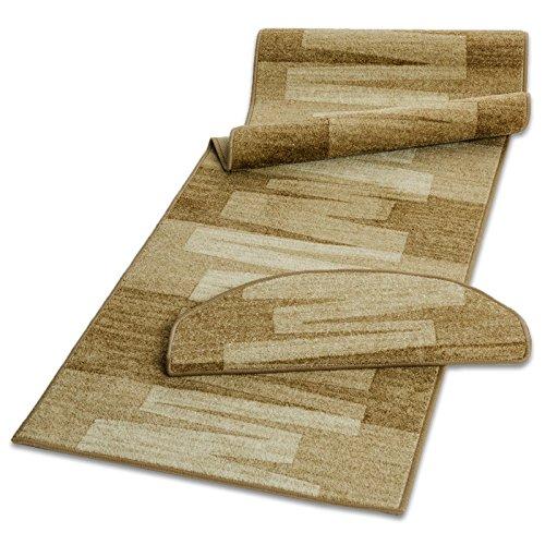 Stufenmatte mit Pinselstrich Muster   Beige   Qualitätsprodukt aus Deutschland   GUT Siegel  ...