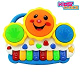 #10: Kids Choice Drum Keyboard Musical Toys with Flashing Lights - Animal Sounds and Songs, Multi Color