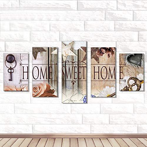 Riou DIY 5D Diamant Painting Voll,Stickerei Malerei Crystal Strass Stickerei Bilder Kunst Handwerk für Home Wand Decor Gemälde Kreuzstich Festlich Weihnachten 5PCS (Mehrfarbig B, 5PCS)