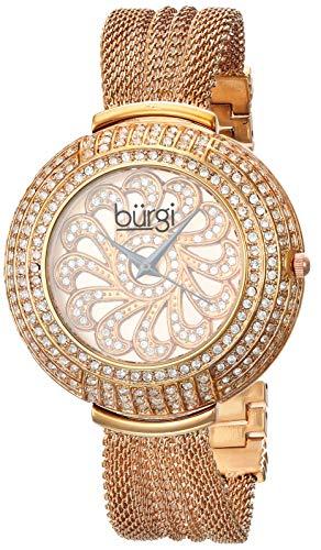 Burgi'Women's Crystal-Braccialetto in retina