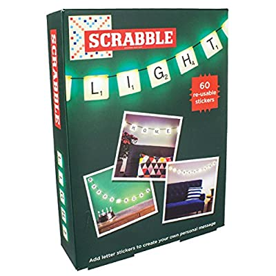 Scrabble Light with 60 re-usable stickers produced by Paladone - quick delivery from UK.