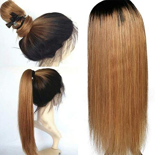 ABB WigColor Lace-Front-Echthaar-Perücke, mit Babyhaar, glatt, brasilianisches Remy-Haar, Lace-Perücke, freie Teil, gebleichte Knoten, - Melanie Martinez Kostüm