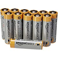 AmazonBasics - Pilas alcalinas AA 'Performance' (Paquete de 12) - Diseño variable